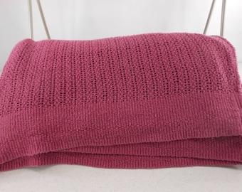 "Woven Cotton Blanket Grape Purple 96"" X 81"""