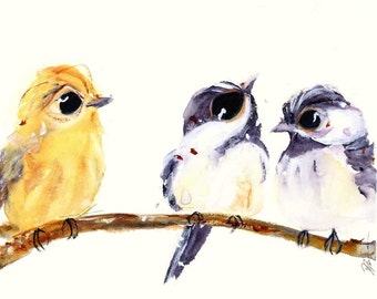 3 Birds on a Branch