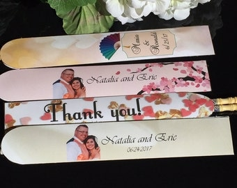 Personalized Chopstick Sleeves, Wedding Chopstick Sleeves, custom Chinese Chopstick Sleeves, Thank you Chopstick Sleeves.Set of 24.
