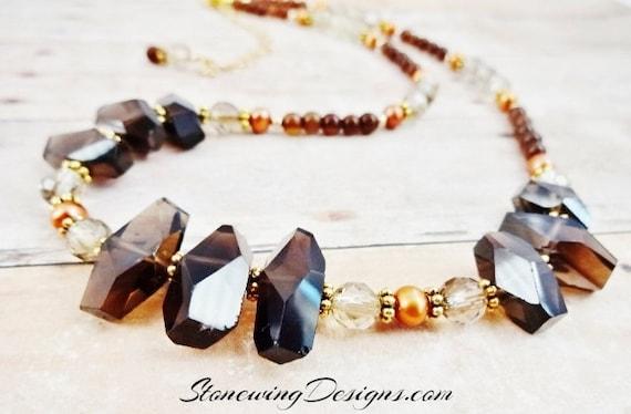 Natural Smokey Quartz Necklace