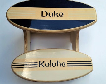 Surfboard Step Stool Personalized