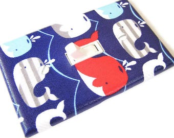 MULTI WHALES Light Switch Cover Plate Switchplate Sealife Nautical Decor