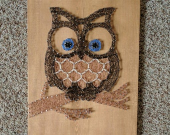 Made to order owl string art