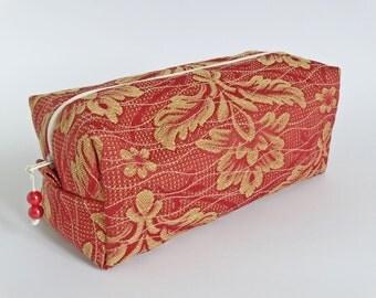Men's Toiletry Bag Gift Idea, Travel Shaving Bag Red