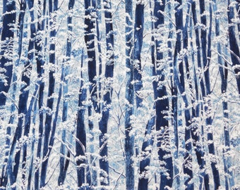 Tree Fabric, Hoffman California, By The Yard, Snow Festival Collection, Quilting Crafting Sewing Fabric, Cotton Fabric, Novelty Fabric