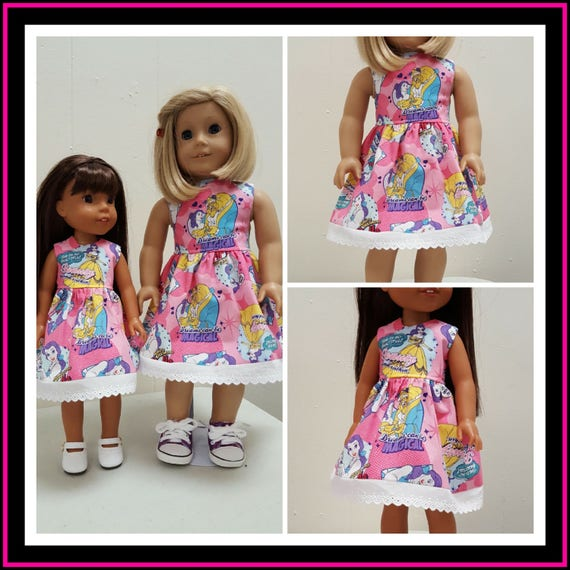 Beauty and the Beast dress for 18 and 14.5 Inch Dolls