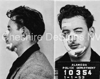 """An Accident Mug Shot from Alameda, CA in 1953 - 8""""x10"""" Digital Download"""