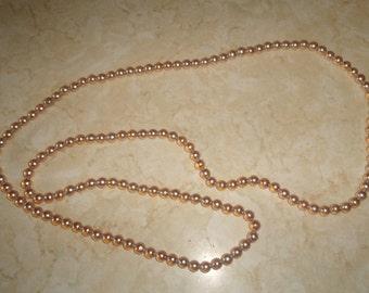 vintage necklace long faux pearls