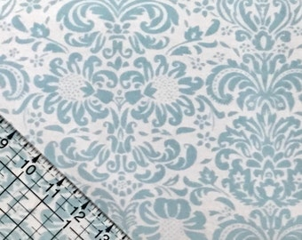 BTY Damask Snuggle Flannel Fabric By The Yard