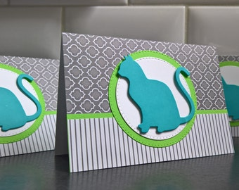 Cat Sympathy Card, Handmade Pet Sympathy Card, Pet Loss Card, Kitty Lover Card