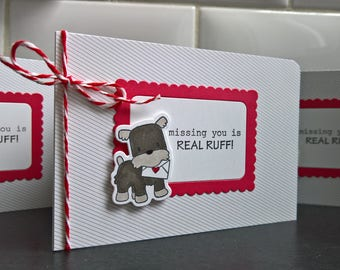 Miss You Card, Break Up Card, Dog I Love You Card, Best Friend Card, Schnauzer Card, Dog Lover Card