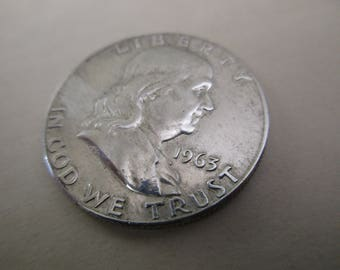 1963 circulated US Franklin half dollar - 90% silver