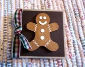 Gingerbread Man Mini Cards  Set of 4