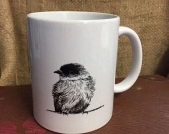 Phoebe Bird Mug Original Hand Drawn Art