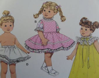 DOLL CLOTHES Pattern • Simplicity 3576 • 8 Inch Doll Clothes • Doll Dress • Doll Nightgown • Doll Wardrobe • Doll Coat • WhiletheCatNaps