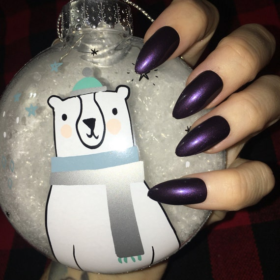 December Nights and Dark Skies purple gemstone Nail Polish jewel tone vegan