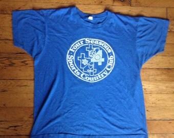 1980's Four Seasons Sports Country Club t shirt USA XL