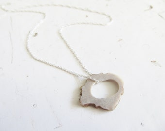 Sterling Silver Deer Antler Necklace - PORTAL- Delicate Minimal Jewelry