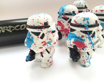 Art Wars Hand Embellished Figurines Star Wars Spray Paint Figure Storm Trooper Darth Vader