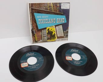vintage records Pete Daily's Dixieland Band Trombone Clarinet Capital 45 rpm