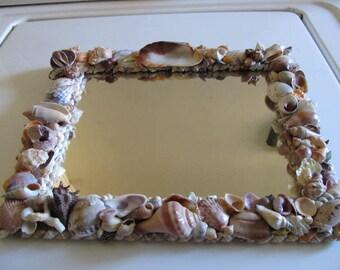 Vintage Sea Shell Wall Mirror