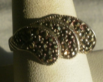 Sterling Silver Marcasite Ring-Size 8