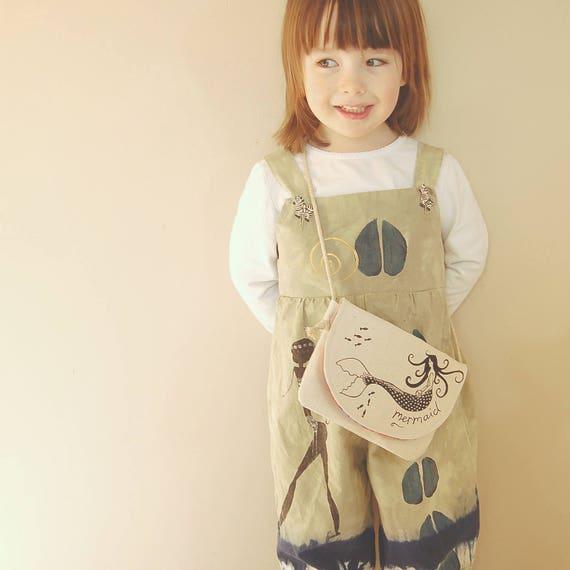 Organic Mermaid bag, Toddler Purse, Toddler Gift, Little Girl Gift, Gift under 30, Kids gift, Girls Gift, Easter Gift, Stocking Stuffer,