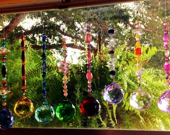 Large Crystal Ball Suncatcher and Chakra Balancing