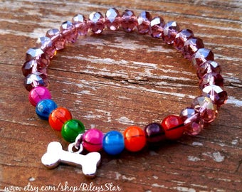 Rainbow Bridge Bracelet and Greeting Card