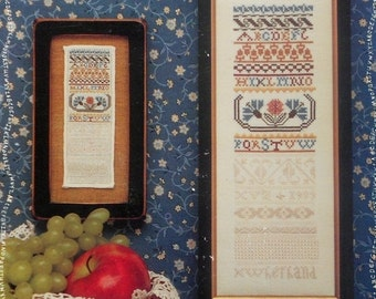 50%OFF Eileen Bennett The MINIATURE WHITE Work Sampler Exemplary By The Sampler House - Counted Cross Stitch Pattern Chart
