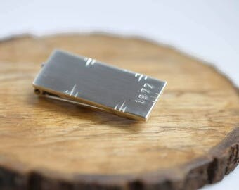 40th Birthday Gift for Men Gift Silver Money Clip Mens Personalized Groomsmen Gift Birthday Gift for Him Gift for Husband Gift for Groom
