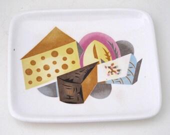 Vintage Small Napco Ceramic Cheese Plate