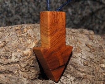 Olive Wood Pendant - Arrow