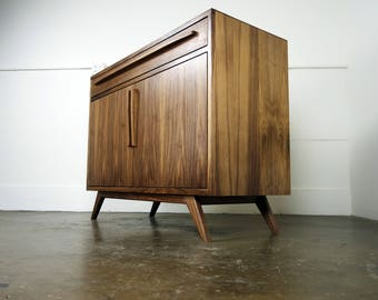 "The ""Brick"" is a mid  century modern credenza, TV stand, mcm, modern, minimal, record player"