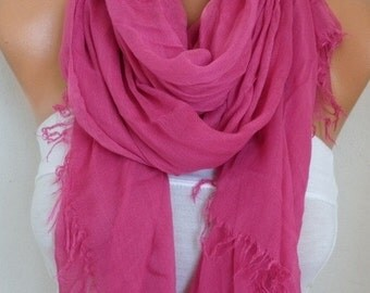 ON SALE --- Pink Cotton Soft Scarf,Teacher Gift,Summer Scarf,Pareo,Shawl,Oversized Scarf, Cowl Scarf Gift Ideas for Her Women Fashion Access