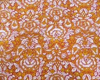 Vintage 1960s Fabric Remnant ... Batik style Cotton ... 2 yards