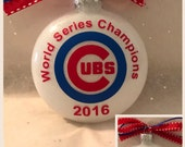 Chicago Cubs World Series Champion ornament