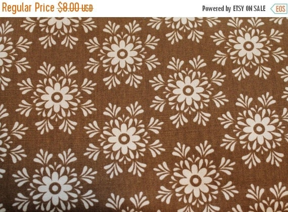 Flower fabric,Floral fabric,Cotton duck fabric,Brown and ivory fabric,100% cotton fabric,Home Decor fabric,Upholstery fabric,By the YARD