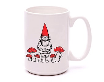 Coffee Mug - Garden Gnome - Gnome Mug - Gnome Sweet Gnome - Mug - Coffee Cup - Gift for Him - Ceramic Mug - Cup