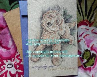 uniquely me.... / cockapoo / love my cockapoo/ storybook /sentimental /personalize/unique empathy condolence/pet sympathy/pet cards