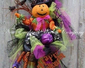 ON SALE Halloween Wreath, Halloween Door Decor, Elegant Halloween Wreath, Halloween Party Decor, Whimsical Halloween Wreath