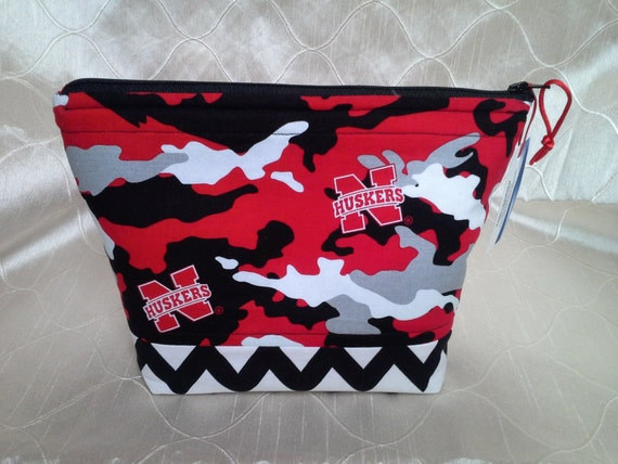 Husker Camo Essential Oil Bottle Zippered Pouch