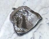 Vintage Mid Century  Authenic Australian GloMesh Silver Coin Purse