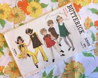 1960's Butterick Jumer & Jumpsuit Pattern (2t)