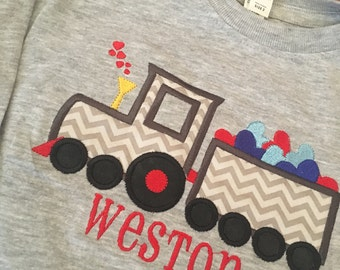Valentine's Day Train with Hearts - Valentine's Shirt for toddler