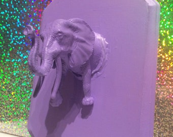Faux Taxidermy - Purple Elephant