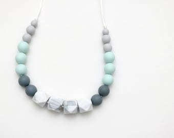 Silicone Necklace | Silicone Teething Necklace | Silicone Nursing Necklace | Breastfeeding Necklace | Chewelry for Mom | Chew Beads for Mom
