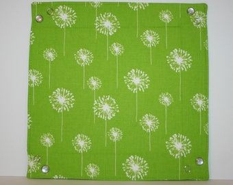 Collapsible Fabric Tray - Lime Green Dandelion