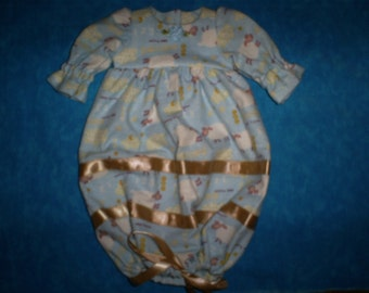 Preemie Baby 1.5-2.5 lbs. Bag Sleeper. Sheep.