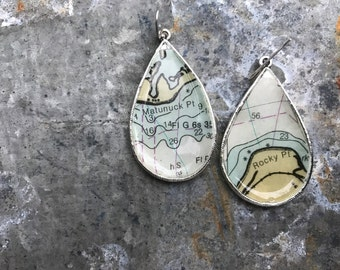Vintage nautical silver earrings